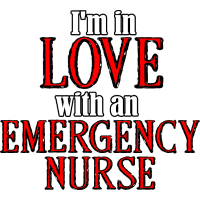 Ich bin verliebt in ein Notfall Krankenschwester Baby T-Shirt