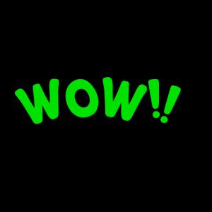 Grüne Wow-Blase