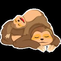 Faultier Sloth schlafen Müde Geschenk Bestseller