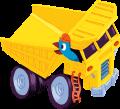 Motif Tracteur jaune