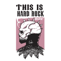 Düsterer Kopf ist dem Hard Rock verfallen