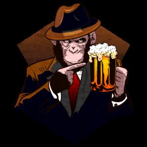 Bier Schimpanse