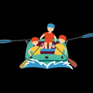 Schlauchboot fahren