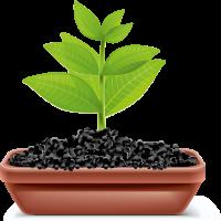 Gartenarbeit-Blumentopf