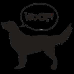 Woof Hund Sprechblase Geschenk