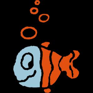 Fisch mit Luftblasen