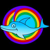 Regenbogendelphin