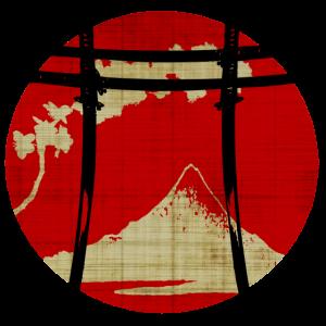 Japanischer Bogen Torii