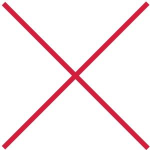 Kreuz kreuzen X durchstreichen Verbot