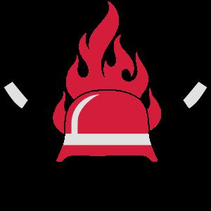 Feuerwehr Helm und Feueraxt
