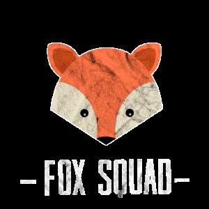 Fox Squad Logo Füchsin Waldbewohner Geschenk Idee