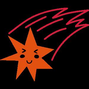 Glücklicher Sternschnuppe