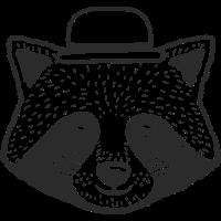 Waschbär Hut