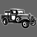Pickup Oldtimer Truck 01_schwarz weiß