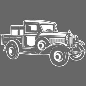 Pickup Oldtimer Truck 01_weiß
