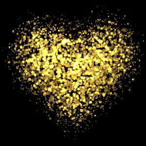 Glitzer Herz Gold