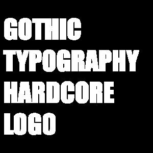 hc gotischen Typo logo