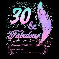30 Jahre Geburtstag Fabulous 1989 Geschenk