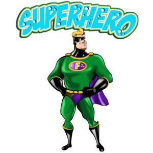 Superheld in grün, Muskelmann ist gut trainiert