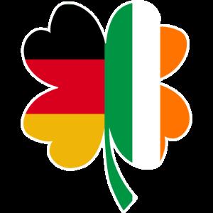 Halb Deutsch - Halb Irisch-St. Patrick's day-Klee