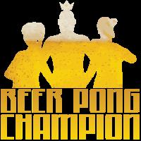 Bier Beerpong Geschenk Champion Spruch trinken