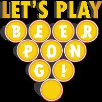 Bier Party Geschenk Beerpong Spruch Trinkspiel