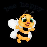 flotte biene, be happy