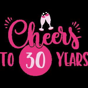 30 Geburtstag / Jahre: Cheers to 30 years Geschenk