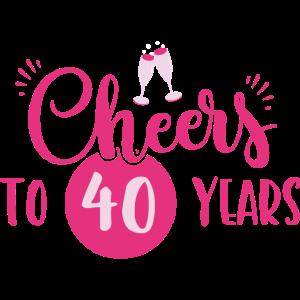 40 Geburtstag / Jahre: Cheers to 40 years Geschenk