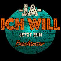 JA ICH WILL Beachsoccer Sport Shirt RAHMENLOS