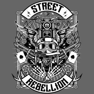 Motorrad Shirt - Street Rebellion (dreifarbig)