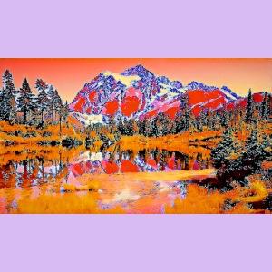Montagne rosse punteggiate