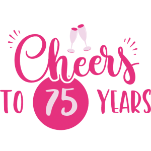 75 Geburtstag / Jahre: Cheers to 75 years Geschenk