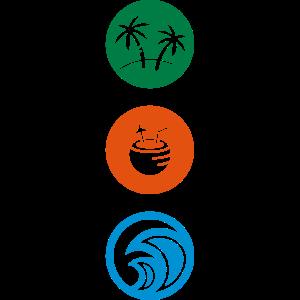 PALM TREEs / COCONUT DRINKS / OCEAN / BEACH