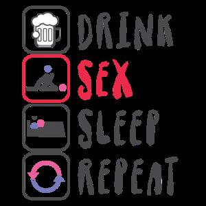 Sex Geschenk Party Spruch lustig Icon Schlaf Bier
