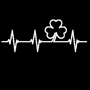 Herzschlag Kleeblatt St. Patrick´s Day T Shirt