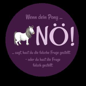 """Pony says """"nö"""""""