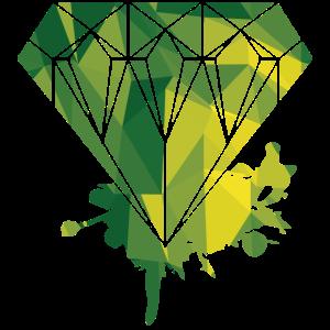 Diamond Geometric Style Fashion Glitzer Unique
