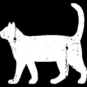Katze Holzstruktur Katzenfreund Geschenkidee