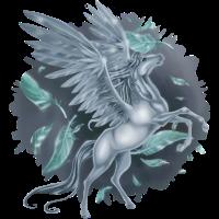 """Pegasus mit """"Stain"""" Hintergrund"""