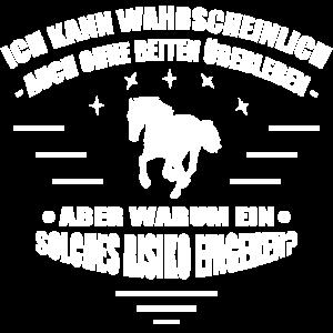 T-Shirt reiten - Ich liebe Pferde