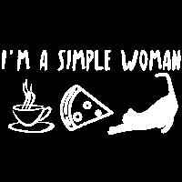 Katze Kaffee Pizza Spruch Frauentag Geschenk Idee