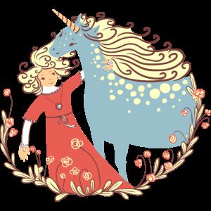 Prinzessin mit Einhorn