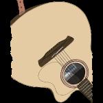 Gitarre auf dem Rücken