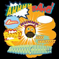 Comic Geräusche Boom