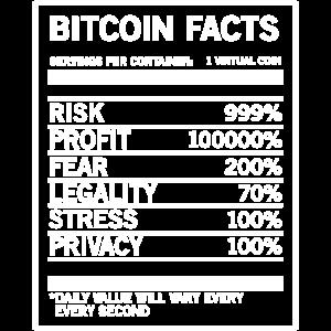 Bitcoin Fakten Lustiges Bitcoin Geschenk-T-Shirt