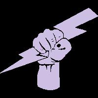 Faust mit Blitz - T-Shirt - Gym wear