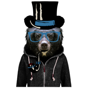 Kopf Bärenjungen Lünette Schweiß Rohr Hut v