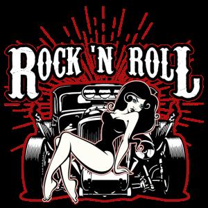 Rock n Roll Hot Rod Frau Geschenk Musik Auto
