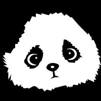 kleiner Panda Pandakopf